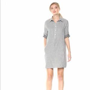 Max Studio • 3/4 Sleeve Roll Tab Shirt Dress